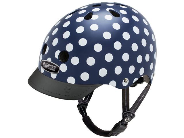 Nutcase Street Cykelhjelm Børn, navy dots